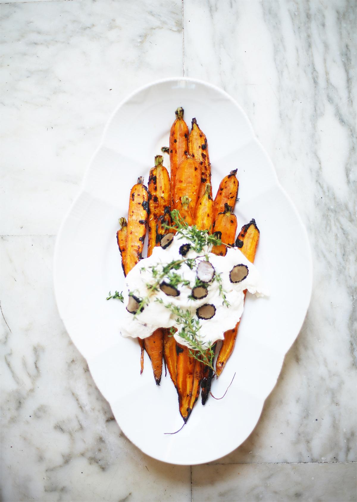 Avec Sofié Blog l Truffle burrata bbq carrots