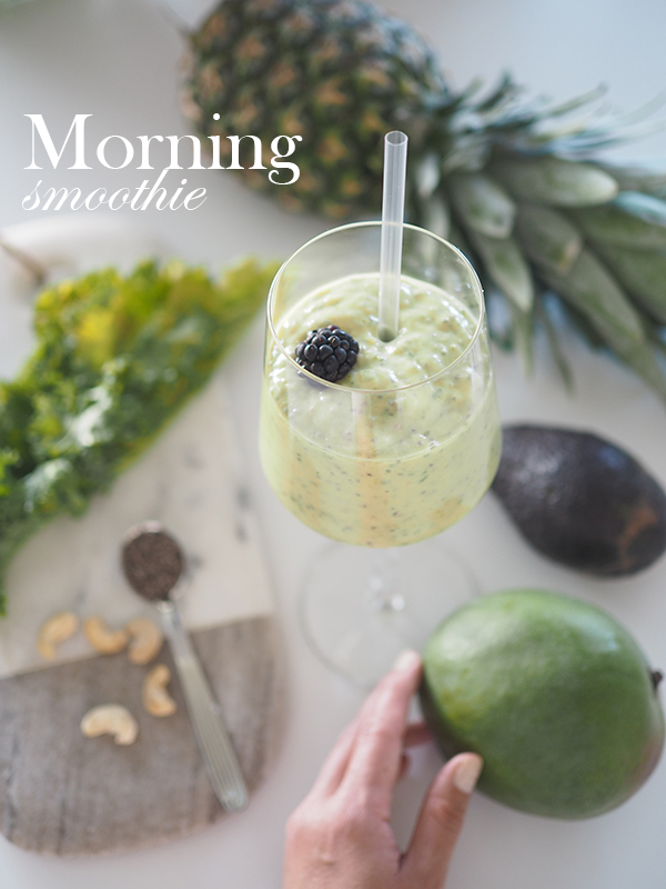 Avec Sofié blog l Green morning smoothie